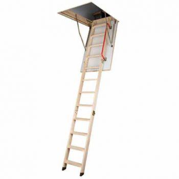 Zoldertrap Keylite houten uitvoering 4-delig, plafondhoogte 320 cm